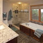 Master Bath Remodel with Heated Quartzite Floors