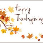 A grateful thank you & Happy Thanksgiving!