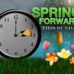 Spring Forward & Set Clocks AHEAD 1-Hour!
